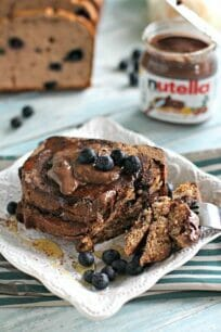 Chocolate Blueberry Bread & French Toast