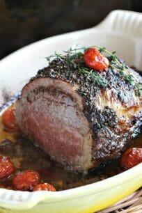 Wine Roasted Beef Tenderloin