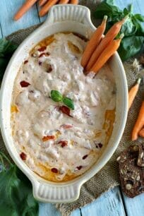 Roasted Red Pepper Tomato Feta Dip 8003