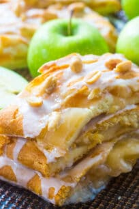 Perfect Apple Pie Danish incorporates all the great fall flavors in an easy, flaky and sweet, seasonal danish, made with cheesecake and apple pie filling.