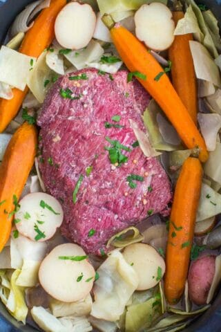 Slow Cooker Corned Beef with Cabbage