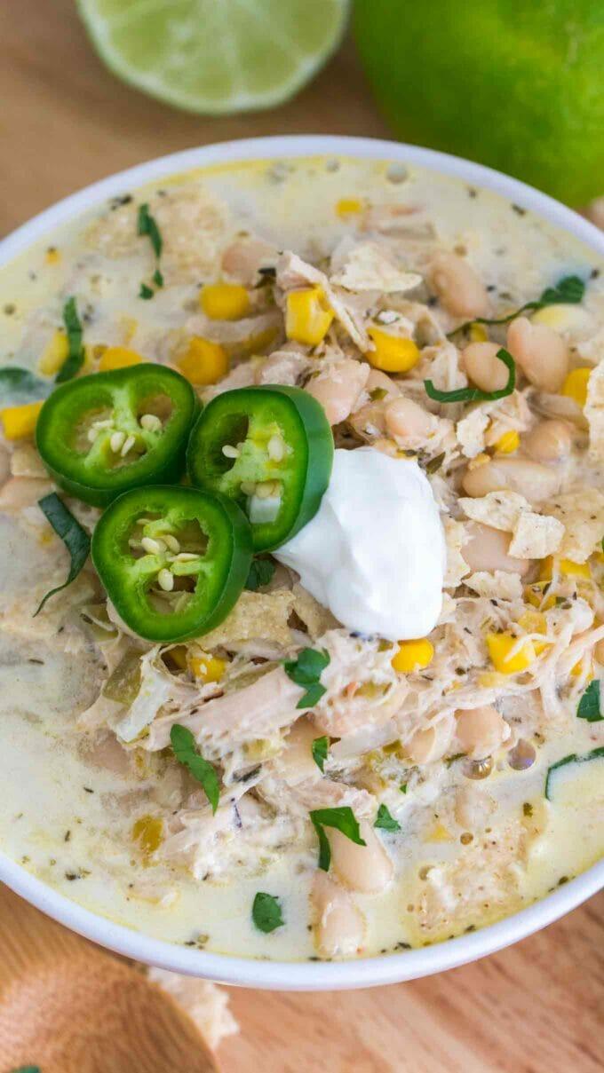 Slow Cooker White Turkey Chili Recipe