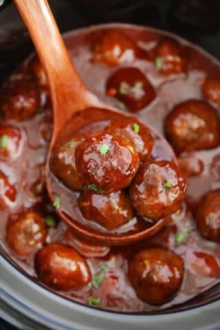 BBQ Crockpot Meatballs