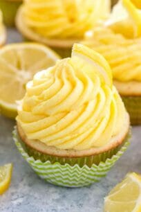Homemade Lemon Cupcakes