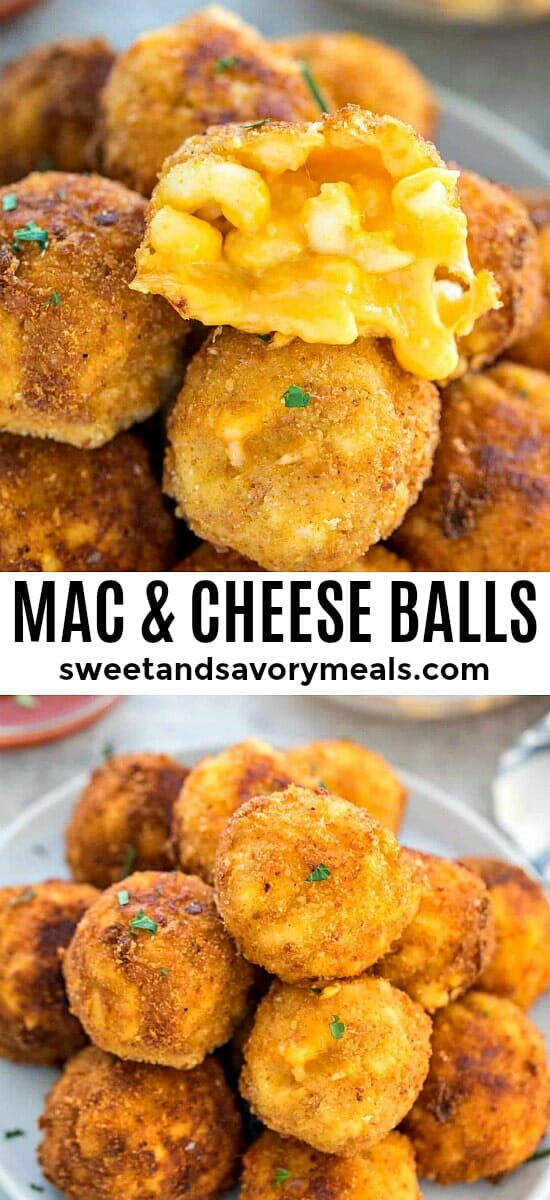 Mac and Cheese Balls made with leftover Mac and cheese