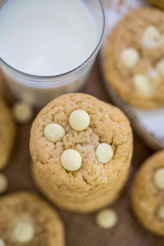 Chewy White Chocolate Chip Cookies