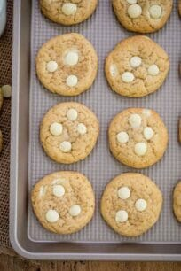 Tray of White Chocolate Chip Cookies