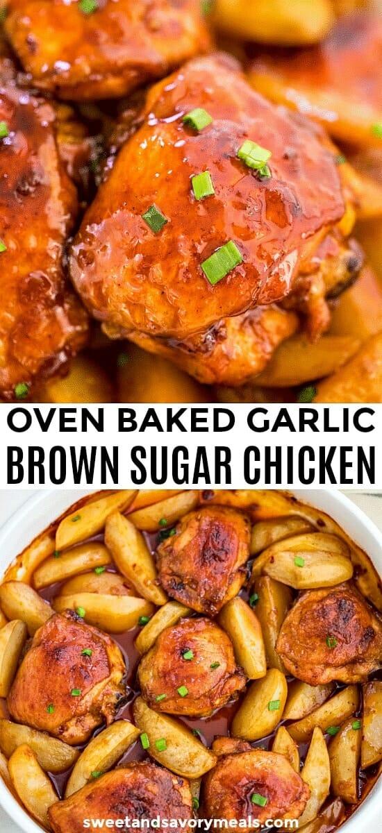Baked Brown Sugar Garlic Chicken with Potatoes