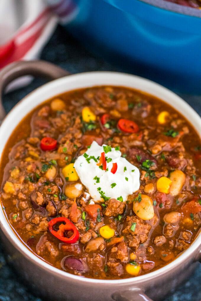 Best Classic Chili Recipe Bowl